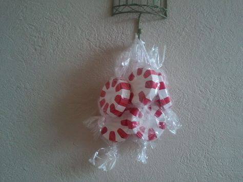 Peppermint Ornaments..credits to Breakfast For Dinner: Christmas..I love these!