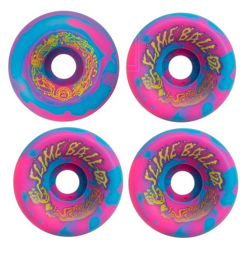 60mm 97a Santa Cruz Skateboards Vomits Slime Balls Black Skateboard Wheels Set of 4