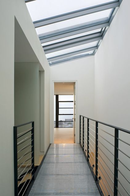 Best Place On Your Roof To Locate A Skylight Is A Critical Basics North Provides The Coolest Color Temp Bluer Skylight Design Residential Skylights Railing Design