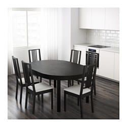 Bjursta Extendable Table Brown Black Ikea Extendable Dining Table Dining Table Design Dining Table