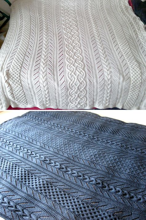 Cable Lace Afghan - Free Pattern