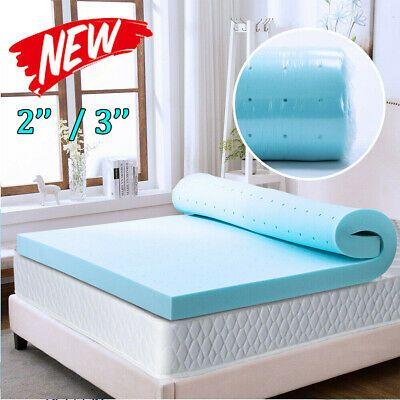 Details About 2 3 Inch Cooling Bed Gel Memory Foam Mattress Topper Full Twin Xl Queen King In 2020 Memory Foam Mattress Topper Foam Mattress Topper Memory Foam Beds