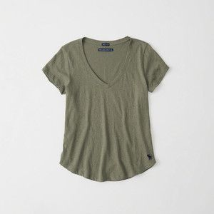 Abercrombie & Fitch SLEEVE ICON TEE - T-shirts - grey