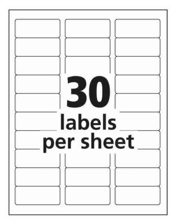 30 Up Address Labels Avery Us Address Label Template Return