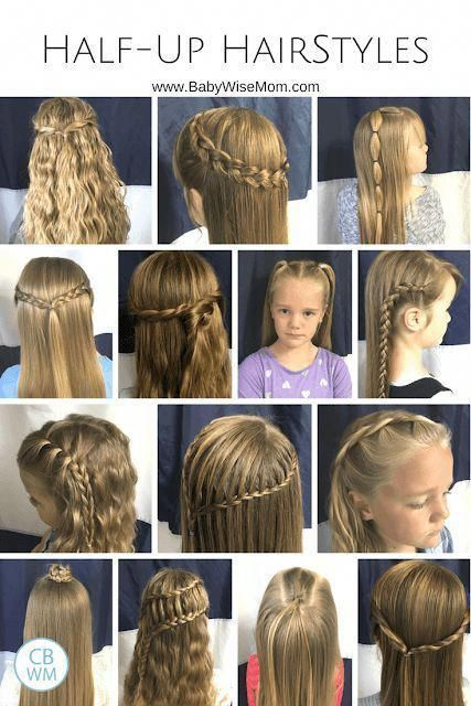 Half Up Hairstyles For Girls 14 Hairstyles For Your Girl Hairdo Hair Hairstyles Girlhai Hair Styles Girls Hairstyles Easy Easy Hairstyles For Medium Hair