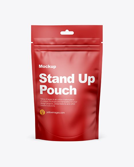 Download Matte Stand Up Pouch W Zipper Mockup Front View In Pouch Mockups On Yellow Images Object Mockups Mockup Free Psd Free Logo Mockup Psd Business Card Mock Up
