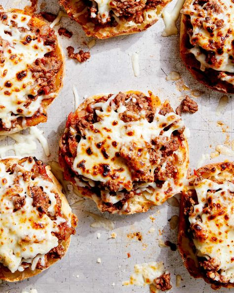 Credit: Kristin Teig Food Styling: Catrine Kelty Credit: Kristin Teig Food Styling: Catrine KeltyOne bite into these open-faced pizza burgers and I was immediately struck with a sense of nostalgia. If you grew up eating English muffin pizzas like I did, these cheesy burgers will be right up your alley. They taste like a beefed-up version of the childhood favorite. This recipe is like a pizza-burger hybrid: It borrows the very best traits from each to form a comforting family-friendly meal. Wit