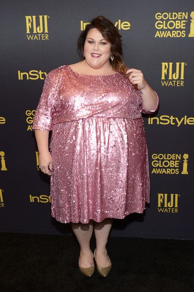 Pink Glitter at InStyle's Celebration Of The 2017 Golden Globe Awards Season - All the Times Chrissy Metz Slayed the Red Carpet - Photos