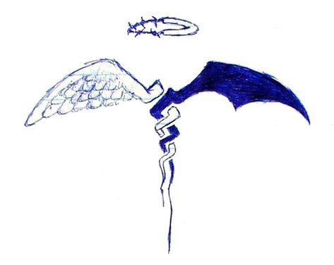 good+vs+evil+tattoo+designs   Good vs Evil by ~cloudlink on deviantART