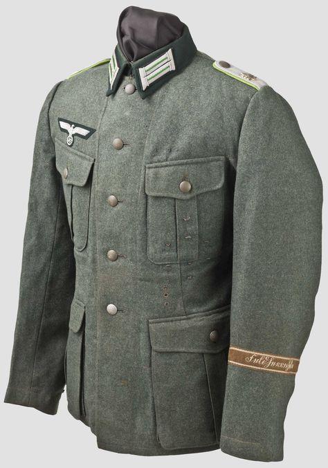 Feldbluse M 36 eines Leutnants des Panzergrenadier-Regiments