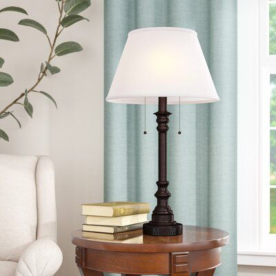 Winston Porter Clarens Double Outlet 30 5 Table Lamp Table Lamp Lamp Table Lamp Base