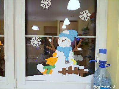 Zimowa Dekoracja Okienna W Przedszkolu Zima Winter