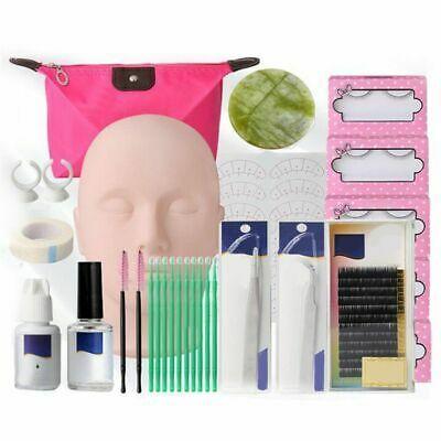 False Eyelashes Extension Practice Exercise Tools Kit Makeup Mannequin Head Set In 2020 False Eyelash Extensions Eyelash Extension Kits Eyelash Extensions
