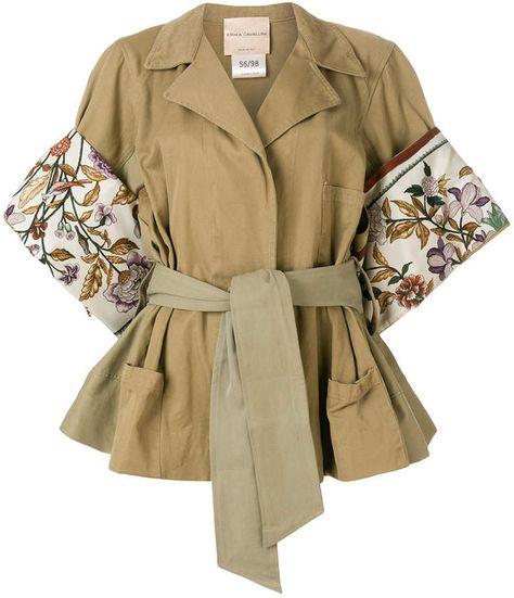 Erika Cavallini floral sleeve jacket
