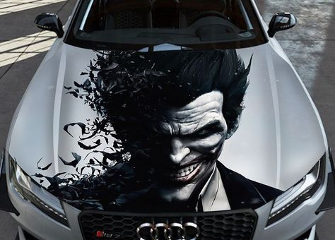 Vinyl Car Hood Wrap Full Color Graphics Decal The Incredeble Hulk Sticker #2