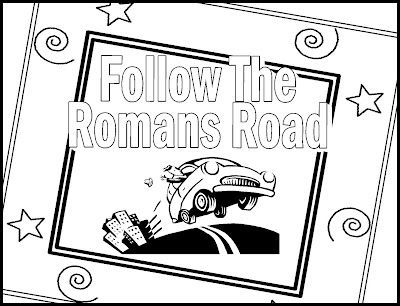 The Roman Road Coloring Card Spanish Roman Road To Salvation