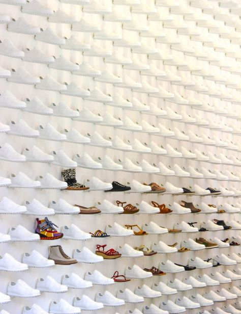 Creative shoe display. It covered three walls.