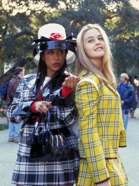 Dionne (stacey dash) and cher (alicia silverstone), Clueless Characters, Clueless Film, Clueless Outfits, Clueless Fashion, Fashion Guys, 90s Fashion, Fashion Outfits, Style Fashion, Hijab Fashion