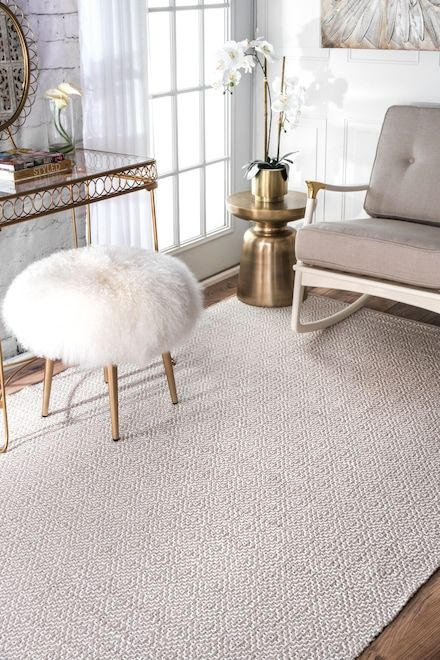 Chalet Diamond Cotton Check Flatwoven Taupe Rug Rugs Flat Woven Rug Area Rugs