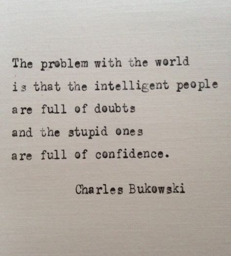 Charles Bukowski quote typed on typewriter - unique gift