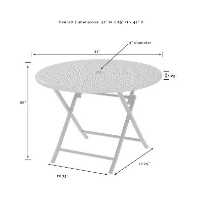 Palm Harbor Outdoor Wicker Folding Table Outdoor Folding Table