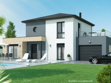 Maison A Etage 3 A 4 Chambres Construction Maison Design A Etage Construction Maison Maison Contemporaine Modele Maison