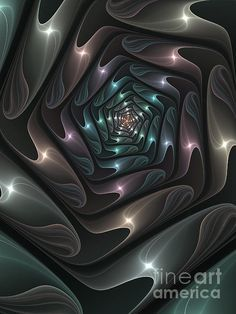 Metallic Spiral Fractal by Gabiw Art