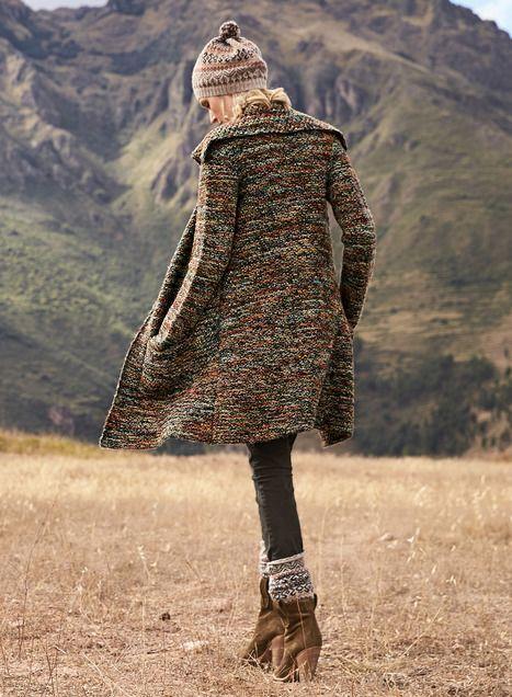 Haworth Alpaca Knit Coat - Cardigans - Sweaters - Peruvian Connection