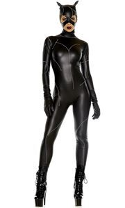Sexy Cat on the Prowl Adult Womens Costume - 374594 | trendyhalloween.com  sc 1 st  Pinterest & On The Prowl Sexy Cat Villain Women Costume | Pinterest | Woman ...