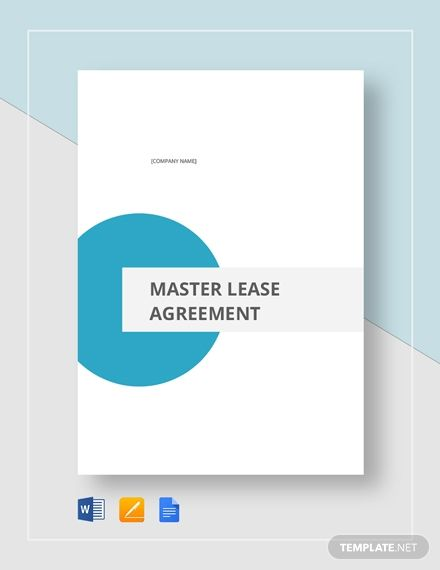Master Lease Agreement Templates Franchise Agreement Lettering