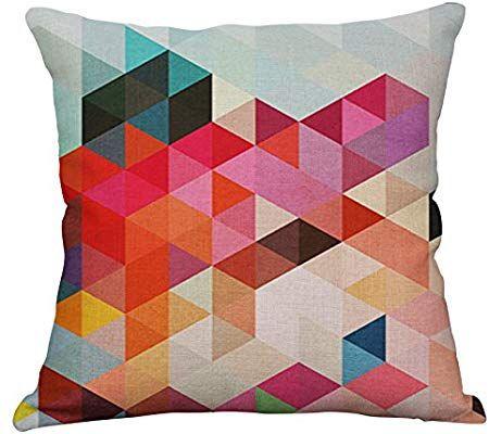 Amazon Com Yeeju Set Of 4 Geometric Decorative Throw Pillow