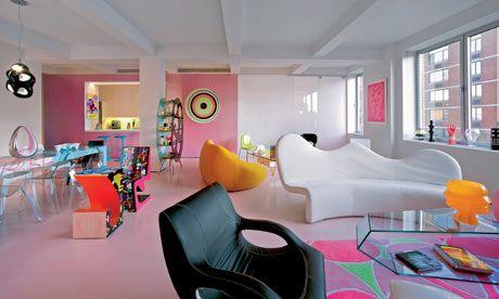 Image detail for -Designer Karim Rashid wants to bring more pink into our masculine . Retro Interior Design, Pastel Interior, Plywood Furniture, Furniture Design, Karim Rashid, Jugendschlafzimmer Designs, Casa Pop, Cosy Room, Teen Bedroom Designs