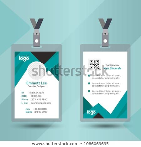 Identification Card With Lanyard Set Isolated Vector Illustration Blank Plastic Access Card Name Tag Free Printable Business Cards Cards Cool Business Cards