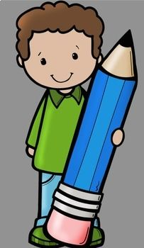 Kids With Pencils Clip Art by Whimsy Workshop Teaching