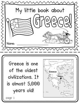 Greece Booklet (A Country Study)-- Use during social studies units about countries around the world! TeachersPayTeachers