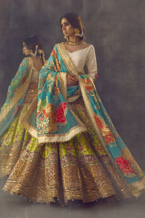 Pakistani Designer Dress Cost And Where To Buy Them In India is part of Pakistani dress design - Have you ever thought of what Pakistani Designer Dress Cost The heavy premium bridal lehengas and shararas Check out all the designer prices in this post Pakistani Bridal Wear, Pakistani Dress Design, Pakistani Dresses, Walima Dress, Indian Gowns Dresses, Indian Wedding Outfits, Bridal Outfits, Indian Outfits, Indian Clothes