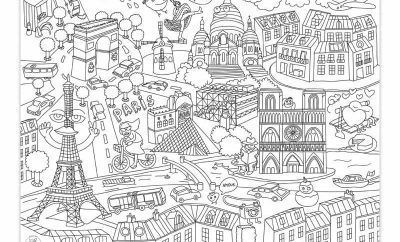 Coloriage Ville De Paris At Supercoloriage Coloring Placemats