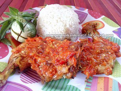 Resep Ayam Penyet Sederhana Gurih Pedas Meresap Resep Ayam Resep Makanan Resep