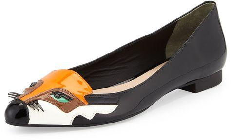 19644f69f86 Kate Spade New York Ericka Fox-Face Slip-On Flat