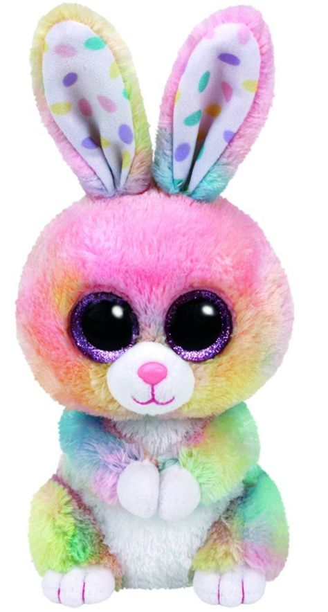 Ty Bubby Multicolor Bunny Plush, Light Pink/Light Yellow/Light Green/Light Blue, Regular: The world famous Beanie Babies are forever filled with fun! Ultra iconic, ever loved. Ty Beanie Babies are the best!