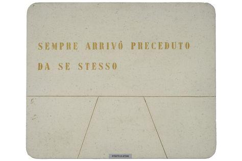 vincenzo agnetti, ritratto di attore, 1974