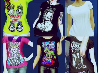 Sims 3 Female Clothes: New T-Shirts for Females - Custom Content Downloads