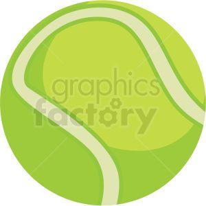 Tennis Ball Vector Clipart Royalty Free Clipart 409548 Vector Clipart Clip Art Clipart Design