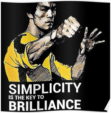 Simplicity Is The Key To Brilliance Bruce Lee Quote Poster Bruce Lee Quotes Water Bruce Lee Quotes Bruce Lee Poster