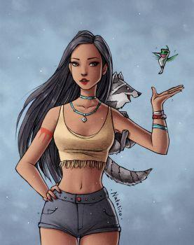Modern Pocahontas by natalico