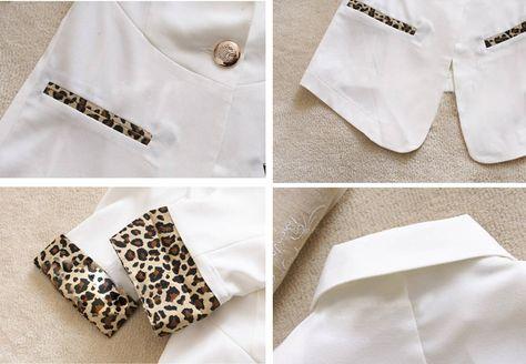 Leopard chiffon blazer<3<3