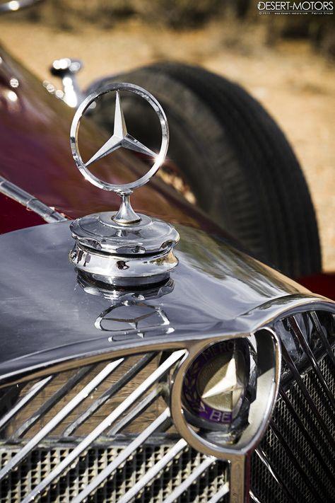 Mercedes Benz Vintage Star Logo Badge Set
