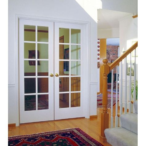 Mmi Door 60 In X 80 In Left Hand Active Primed Mdf Glass 10 Lite Clear True Divided Prehung Interior French Door Z009304l The Home Depot Prehung Interior French Doors French Doors