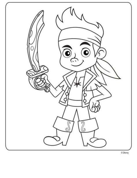 Kleurplaten Disney Junior.Kleurplaat Jake En De Nooitgedacht Piraten Jake En De Nooitgedacht