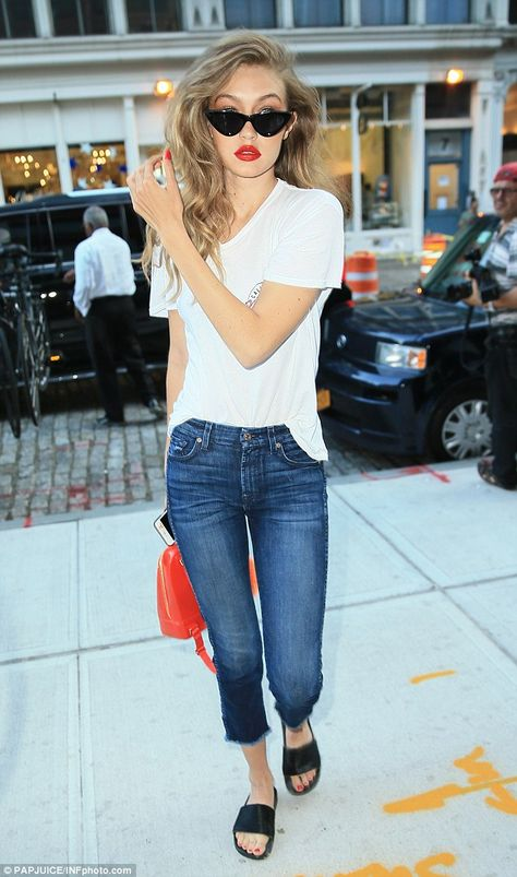 Anything but plain Jane: The 21-year-old rocked the classic look of a white…